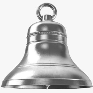 real silver bell 3D model