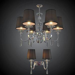 3D model chandelier sconce newport