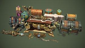 3D unity chest
