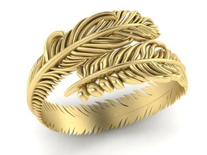 3D ring feather model