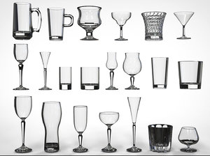 21 glasses 3D model