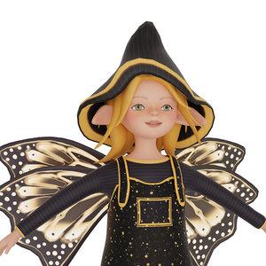 stylized elf 3D model
