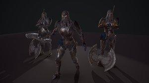 3D unreal knight