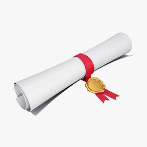 3D scroll paper seal