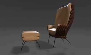 3D design armchair model