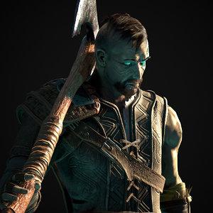 3D model character warrior