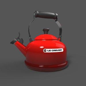 3D model classic whistling kettle lecreuset