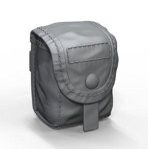 hand grenade pouch 3D model