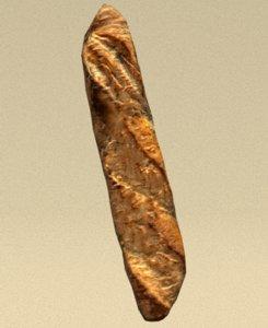 bread food 3D model