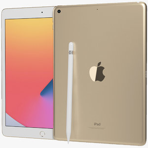 realistic apple ipad 8 3D model