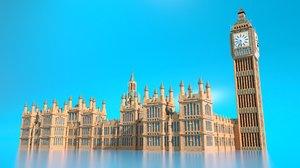 palace westminster big ben 3D model