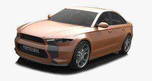 door concept car 3D model