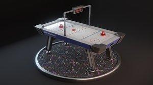 3D realistic air hockey puck model