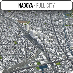 city nagoya surrounding - model