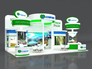 3D exhibit stand stall model
