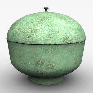 covered bronze bowl goryeo 3D