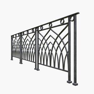 3D railing iron