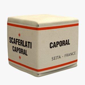 package tobacco scaferlati caporal 3D