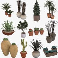 Deco Potted Plants Set 1