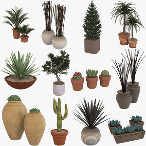 3D potted plants 1