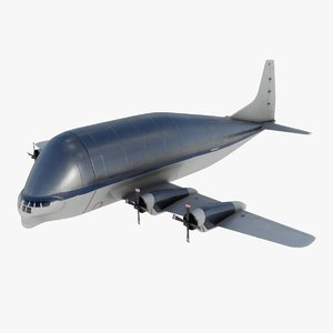 3D modern cargo airplane