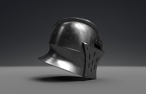 3D helmet pbr metallic