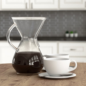 chemex coffee cups 3D