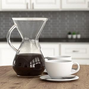 chemex coffee cups 3D