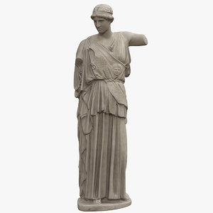 3D athena statue