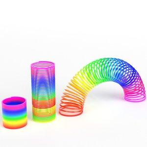 magic springs toy set 3D model
