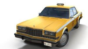 dodge diplomat 1980 taxi 3D model