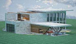 villa architectural 3D model