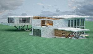 villa architectural 3D