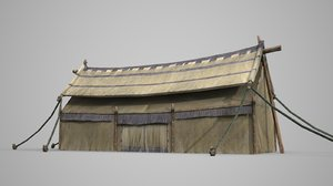 tent pointed roof 3D model