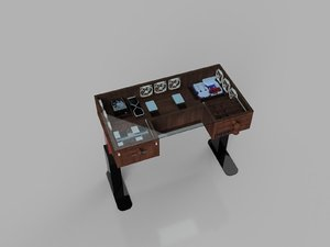 3D standing desk pc case