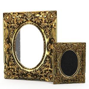 antique frame mirror 2 3D