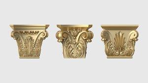 set capitals 3D model