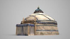 circular tent ancient 3D model