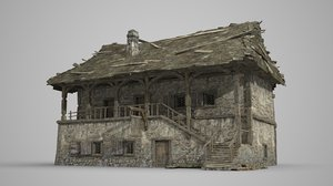 ancient architecture tavern 3D