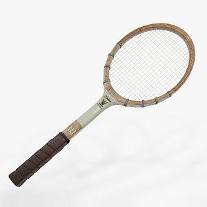 3D tennis racquet wilson jack