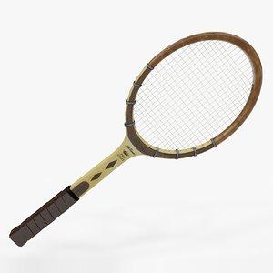 3D tennis racquet wilson jack model