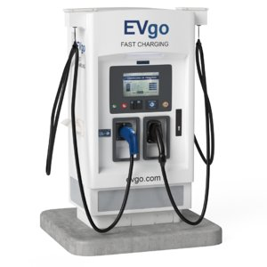 3D model electric vehicle charging station