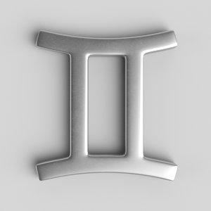 sign gemini 3D model