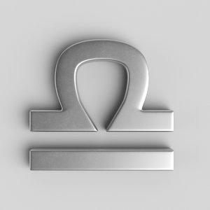 3D sign libra