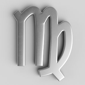 3D sign virgo