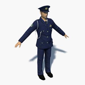 3D japanese police model