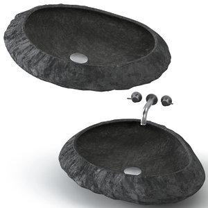 stone washbasin 3D model