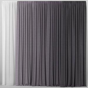 tulle curtain model
