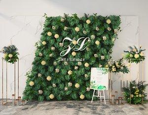 3D green flower plants