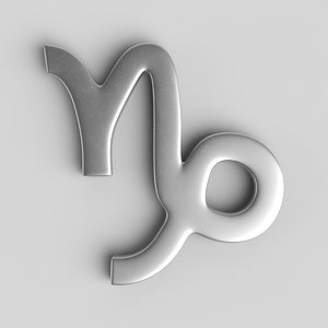 3D sign capricorn
